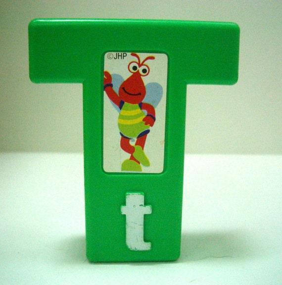 Retro Sesame Street Block Letter T