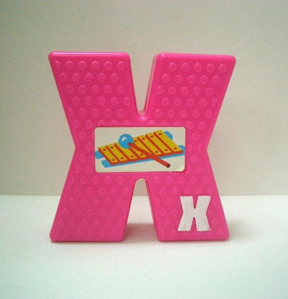Retro Sesame Street Block Letter X