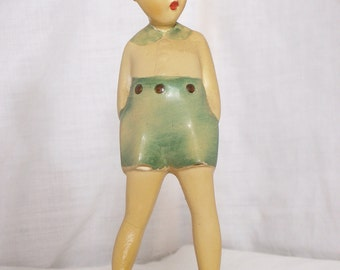 Boy In Blue Shorts Figurine - ca. 40s