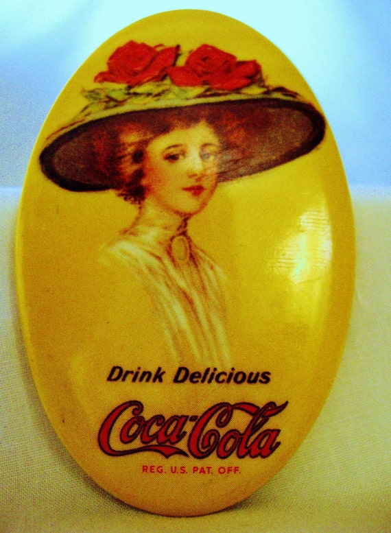 Coca Cola Pocket Mirror Vintage 70s