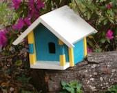 Reduced Blue Yellow Birdhouse or Custom Built of Choice