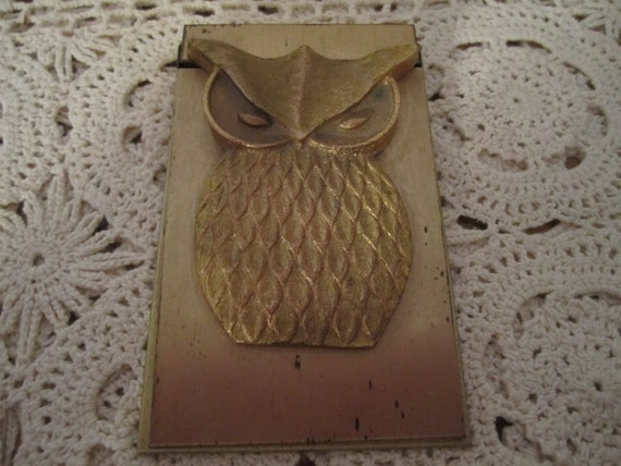 Owl Memo Paper Holder or Paper Weight