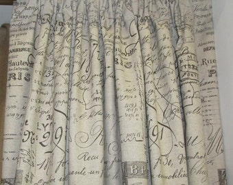 Shower Curtain In French Script 72x72 By Thecurtaincall On