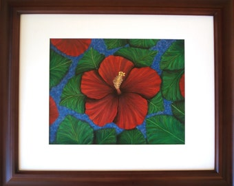 Tropical Hibiscus in Red