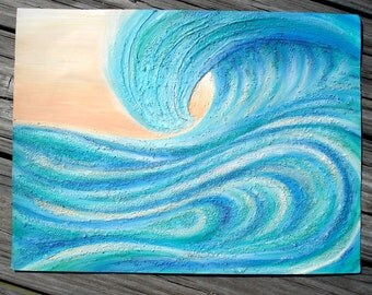 A Wave From It All beach surf painting