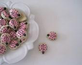 OH SO SMALL Pink Ladybugs Sugar cookies in Vanilla bean, Lemon, Lavender or Chocolate chip flavor -6 dozen