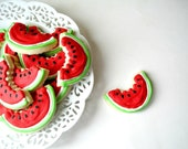 WATERMELON Slices Sugar cookies -4 dozen NEW for Summer