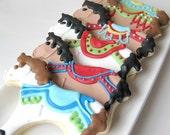 CAROUSEL Ride Carousel horse sugar cookies -1 dozen