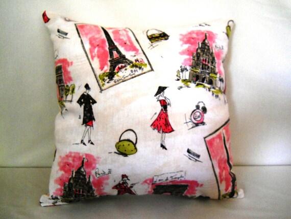 I Love Paris Pillow