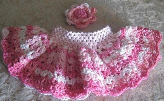 Newborn Crochet TuTu Skirt  Cute, Soft Pink Mix..Baby Girls..Flower to Match..Baby Gifts..Ready to Ship