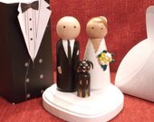 Custom Cake Toppers with One Pet -  Customizable---3-D Accents