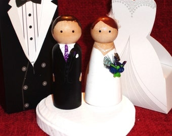 Feather Collection - Wedding Cake Toppers Fully Customizable---Feathers and 3D Accents