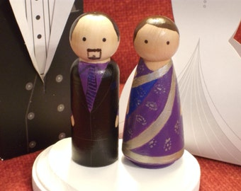 Indian Wedding Cake Toppers, Bride is Wearing a Saree