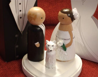 Cake Toppers with One Pet Fully Customizable---3-D Accents