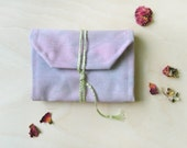 Back Pocket Notebook - Pink and Pale Gray Tie-Dye