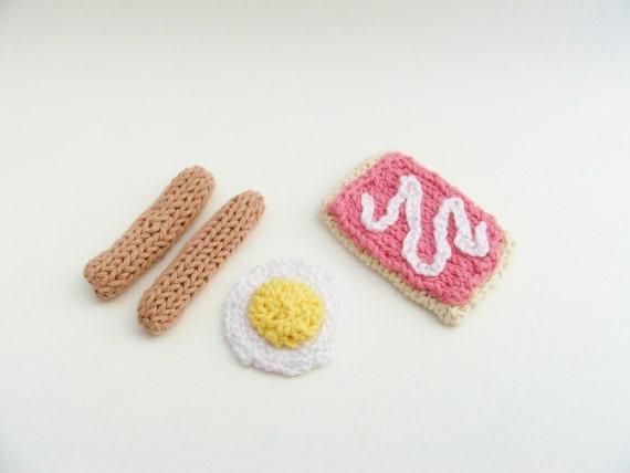 Breakfast / Breakfast Food / Play Food / Amigurumi Food / Crochet Food / Knitted Food / Felt Food Set / Pet Toy / Children Toys / Dog Toys