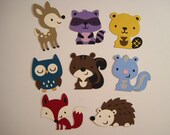 Set of 8 Woodland Creatures Die Cuts