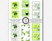 "Swirly St. Patrick's Day - 2"" Square Tags - PRINTABLE"