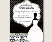 Dressy Damask Collection - Custom Digital Bridal Shower Invitation - You Print and Save