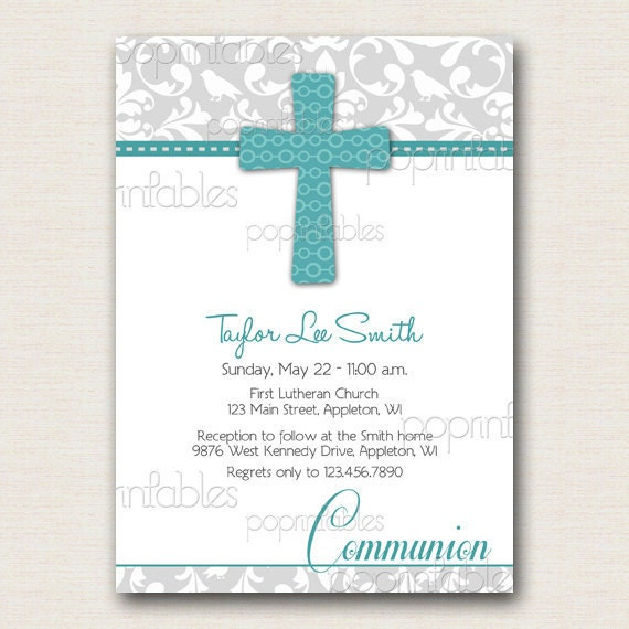 Unusual image inside first communion cards printable