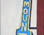 Paramount Theatre Seattle Sign 12 X 24 original painting