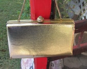 Vintage 1950's HL Gold Purse Made in Usa