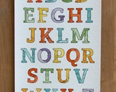 Creature Alphabet, Limited Edition Giclee Print