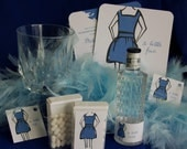 Classy custom bachelorette party box invitations