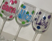 LARGE Personalized Stemmed Glass