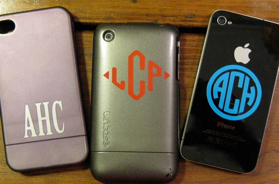 Decal Cell Phone Monogram