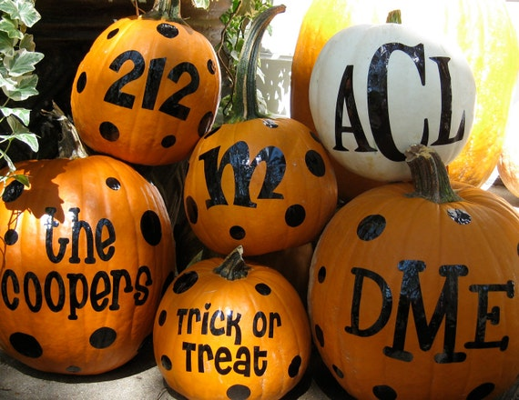 Halloween Pumpkin Monograms