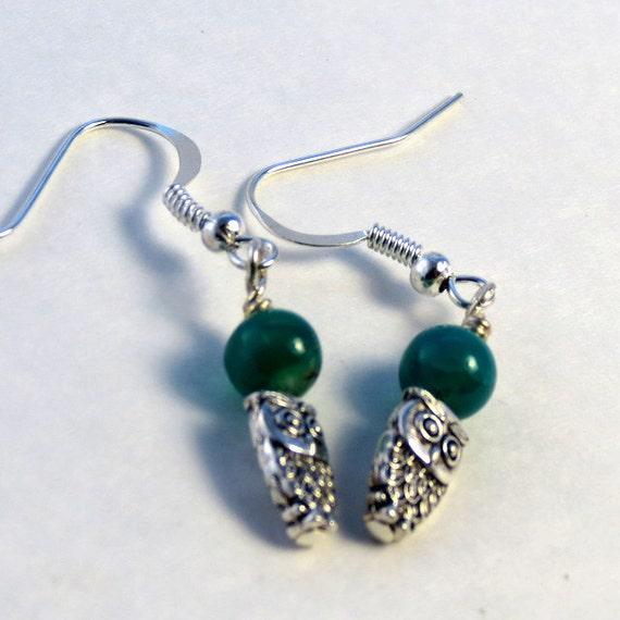 Owl Gemstone Earrings