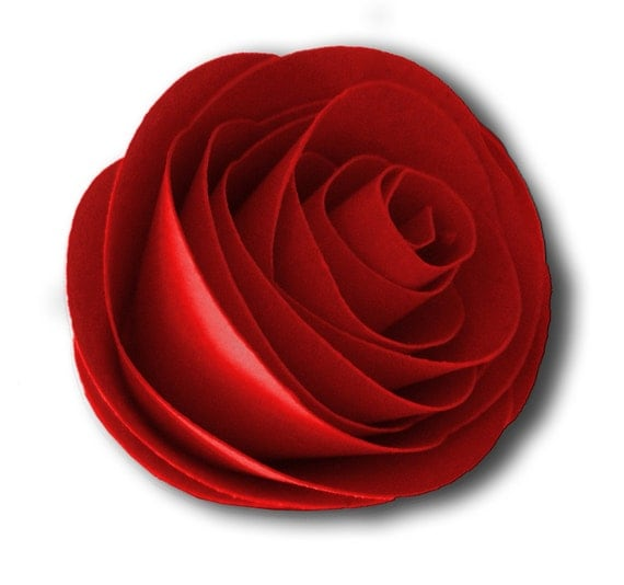 Items Similar To Valentines Day Decoration 3D Paper Rose