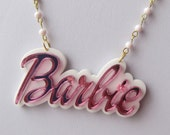 Barbie Double Layer Bow Logo Necklace
