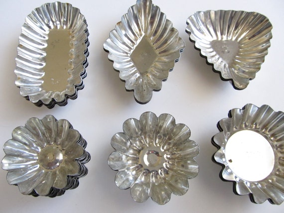 Vintage Tartlet Tins--Set of 30--For Brioches, Tartlets or Petit Fours