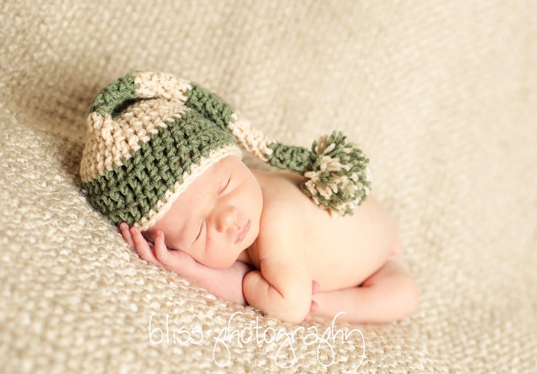 Newborn Elf Hat Crochet Pattern Instant by AshTreeCrochet ...