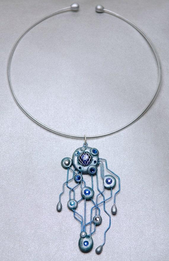 Bionic Orb Blue neck piece