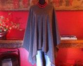 Charcoal Grey Fleece Belle Poncho