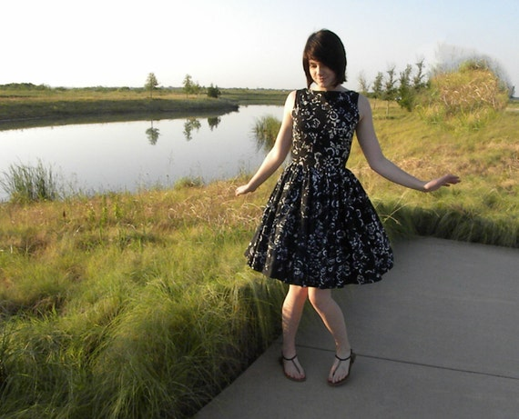 Navy blue and white dress 30% Off