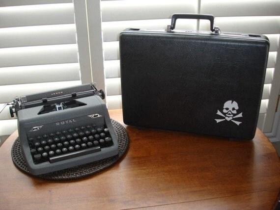 Briefcase/Computer Case- Skull & Crossbones