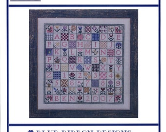 Blue Ribbon Designs: Stop and Stitch the Flowers - Cross Stitch Pattern