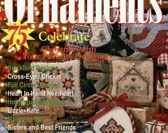 Just Cross Stitch Magazine: Christmas Ornaments 2004 - Annual Holiday Issue