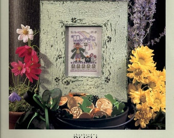 Shepherd's Bush: March - A Year in Stitches Cross Stitch Pattern and Button