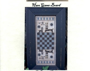 The Primitive Needle: Hare Game Board (OOP) - Cross Stitch Pattern