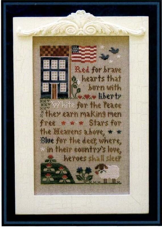 Brave Hearts - cross stitch pattern by Little House Needleworks