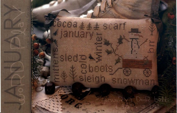 With Thy Needle & Thread: January Word Play - Cross Stitch Pattern