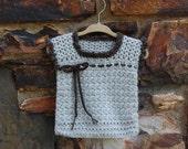 Baby Sweater Vest in Undyed Alpaca