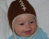 Football Hat for Baby in Undyed Alpaca