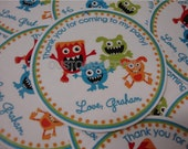Adorable Monster Favor Tags