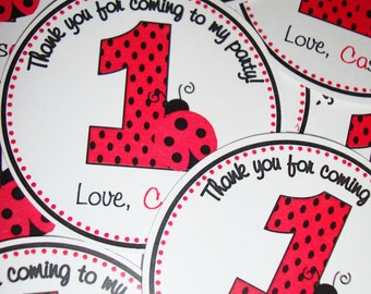 Ladybug Birthday Favor Tags